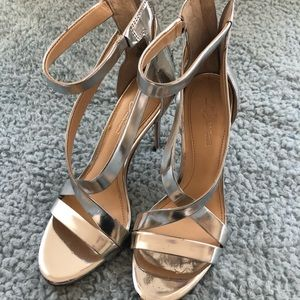Silver Imagine by Vince Camuto Heels Devin Size 8